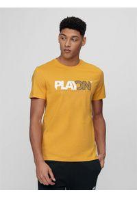Żółta koszulka sportowa 4f