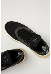 Czarne sneakersy GANT z cholewką, z okrągłym noskiem, na sznurówki