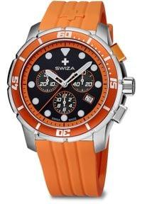 Zegarek Swiza Zegarek męski Tetis Chrono SST czarno-pomarańczowy (WAT.0463.1004). Kolor: czarny, wielokolorowy, pomarańczowy