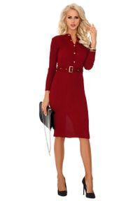 Czerwona sukienka wizytowa Merribel szmizjerki