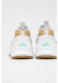 Białe buty sportowe New Balance z cholewką, na fitness i siłownię