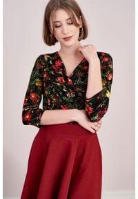 Marie Zélie - Spódnica Laila czerwień wina. Kolor: czerwony. Materiał: bawełna, dzianina, materiał, elastan, skóra. Wzór: ze splotem, gładki, prążki