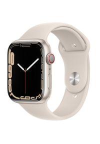APPLE - Smartwatch Apple Watch 7 GPS+Cellular 45mm aluminium,księżycowa poświata|księżycowa poświata pasek sport. Rodzaj zegarka: smartwatch. Styl: sportowy