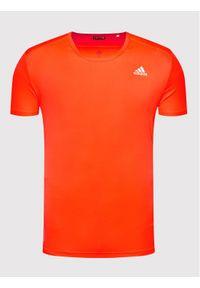 Adidas - adidas Koszulka techniczna Run It H34536 Pomarańczowy Regular Fit. Kolor: pomarańczowy. Sport: bieganie