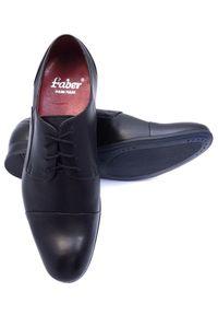 Modini - Czarne półmatowe obuwie wizytowe T94. Kolor: czarny. Materiał: skóra. Styl: wizytowy