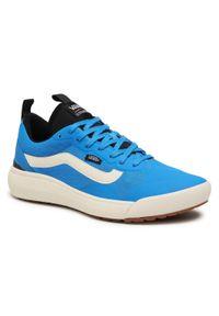 Niebieskie buty sportowe Vans na co dzień, z cholewką