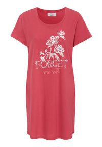 Triumph Koszula nocna z napisem malinowy female czerwony 48. Kolor: czerwony. Materiał: jersey. Długość: krótkie. Wzór: napisy