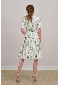 Marie Zélie - Sukienka Alodia Sencha. Materiał: bawełna, skóra, materiał, elastan. Długość rękawa: krótki rękaw