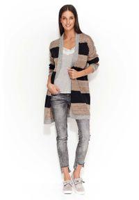 Długi sweter Makadamia w paski