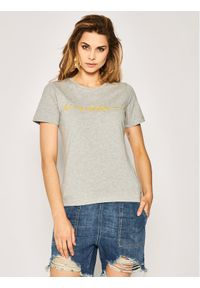 TOMMY HILFIGER - Tommy Hilfiger T-Shirt Annie WW0WW27965 Szary Regular Fit. Kolor: szary