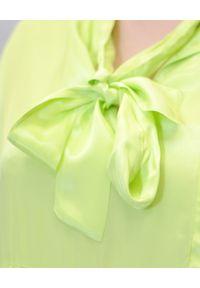 EMMA & GAIA - Zielona zwiewna sukienka. Kolor: zielony. Materiał: wiskoza. Sezon: lato. Typ sukienki: asymetryczne, sportowe. Styl: sportowy