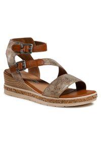 Złote sandały Remonte