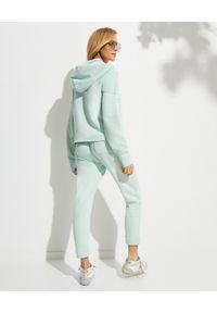 LOVE SHACK FANCY - Miętowe spodnie dresowe Blex. Kolor: zielony. Materiał: dresówka