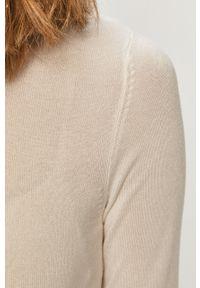 Biały sweter TALLY WEIJL długi, z golfem