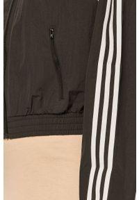 Czarna bluza rozpinana adidas Originals raglanowy rękaw, casualowa