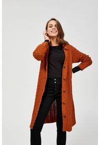 Sweter MOODO z dekoltem w serek, długi