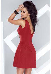 Czerwona sukienka na wesele IVON bombki