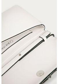 Biała kopertówka Calvin Klein z aplikacjami, z aplikacjami