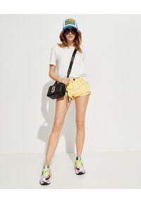ONETEASPOON - Żółte spodenki Bandits. Stan: obniżony. Kolor: żółty. Materiał: jeans. Wzór: aplikacja
