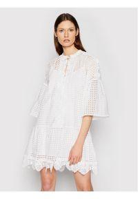 Pinko Sukienka letnia Sosia 1N132P 8508 Biały Regular Fit. Kolor: biały. Sezon: lato