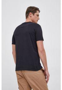 Armani Exchange - T-shirt. Okazja: na co dzień. Kolor: niebieski. Wzór: nadruk. Styl: casual