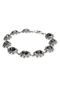 Polcarat Design - Srebrna bransoletka z kryształem Swarovski Oval L 1727. Materiał: srebrne. Kolor: srebrny. Kamień szlachetny: kryształ