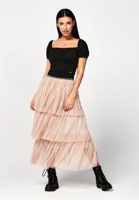 Różowa długa spódnica Born2be