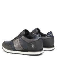 U.S. Polo Assn - Sneakersy U.S. POLO ASSN. - Jason1 XIRIO4121S0/YT1 Blk. Okazja: na co dzień. Kolor: czarny. Materiał: skóra ekologiczna, materiał. Szerokość cholewki: normalna. Styl: elegancki, klasyczny, casual