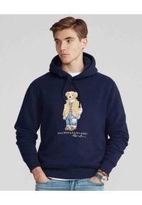 Ralph Lauren - RALPH LAUREN - Granatowa bluza z kapturem. Typ kołnierza: kaptur. Kolor: niebieski. Materiał: bawełna. Długość rękawa: długi rękaw. Długość: długie. Wzór: nadruk