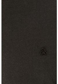 Jack & Jones - T-shirt. Okazja: na co dzień. Kolor: czarny. Materiał: dzianina, bawełna. Wzór: gładki. Styl: casual #3