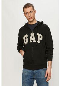 Czarna bluza rozpinana GAP z aplikacjami, casualowa, na co dzień