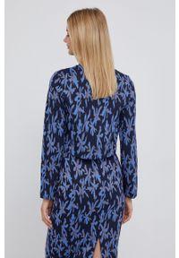 Desigual - Sweter. Okazja: na co dzień. Kolor: niebieski. Materiał: dzianina. Długość rękawa: długi rękaw. Długość: długie. Styl: casual