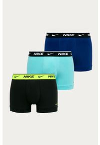 Turkusowe majtki Nike z nadrukiem