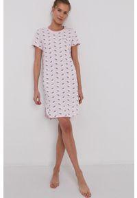 Calvin Klein Underwear - Koszula nocna. Kolor: różowy. Materiał: dzianina. Długość: krótkie