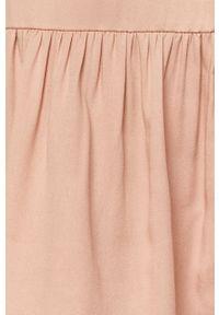 Różowa sukienka Vila casualowa, gładkie, mini, na co dzień