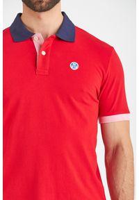 Koszulka polo North Sails polo, z nadrukiem, sportowa