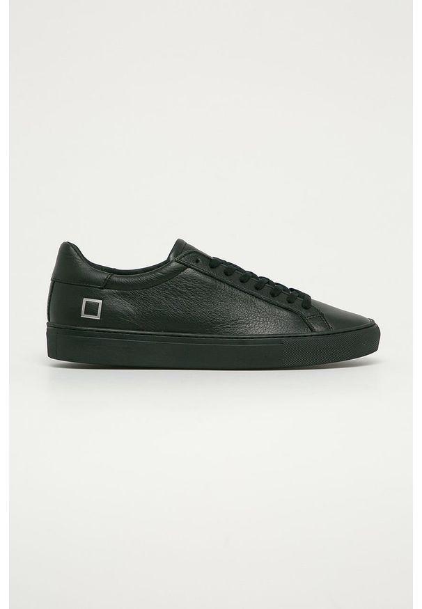 Czarne sneakersy D.A.T.E. z cholewką, na sznurówki, z okrągłym noskiem