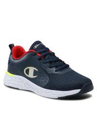 Champion - Sneakersy CHAMPION - Bold B Gs S32124-S21-BS517 Nny/Red/Syf. Okazja: na uczelnię, na spacer. Kolor: niebieski. Materiał: materiał. Szerokość cholewki: normalna
