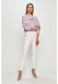 Białe jeansy Guess