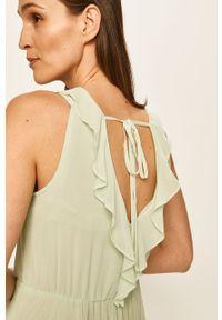 Zielona sukienka only rozkloszowana, midi, na ramiączkach