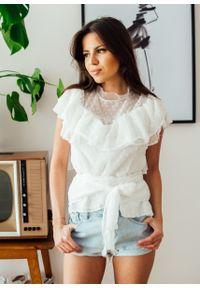 Biała bluzka Fanaberia.com na lato, długa