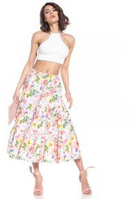 Wielokolorowa spódnica Tessita w kwiaty, długa