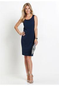Sukienka ołówkowa bonprix ciemnoniebieski. Kolor: niebieski. Typ sukienki: ołówkowe. Długość: midi