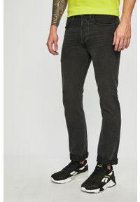 Czarne jeansy Levi's® biznesowe, z aplikacjami