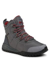 Szare buty trekkingowe columbia z cholewką, Omni-Heat (Columbia)