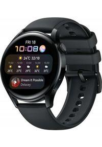 HUAWEI - Smartwatch Huawei Watch 3 Czarny (55026820). Rodzaj zegarka: smartwatch. Kolor: czarny
