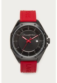Czerwony zegarek Karl Lagerfeld klasyczny