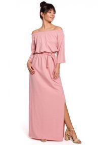 Sukienka na co dzień, z odkrytymi ramionami, maxi, casualowa