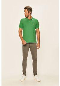 Zielona koszulka polo Lee krótka, casualowa, polo, na co dzień