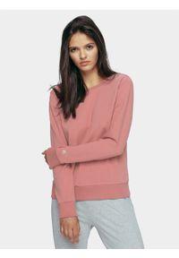Różowa bluza bez kaptura 4f casualowa, na co dzień
